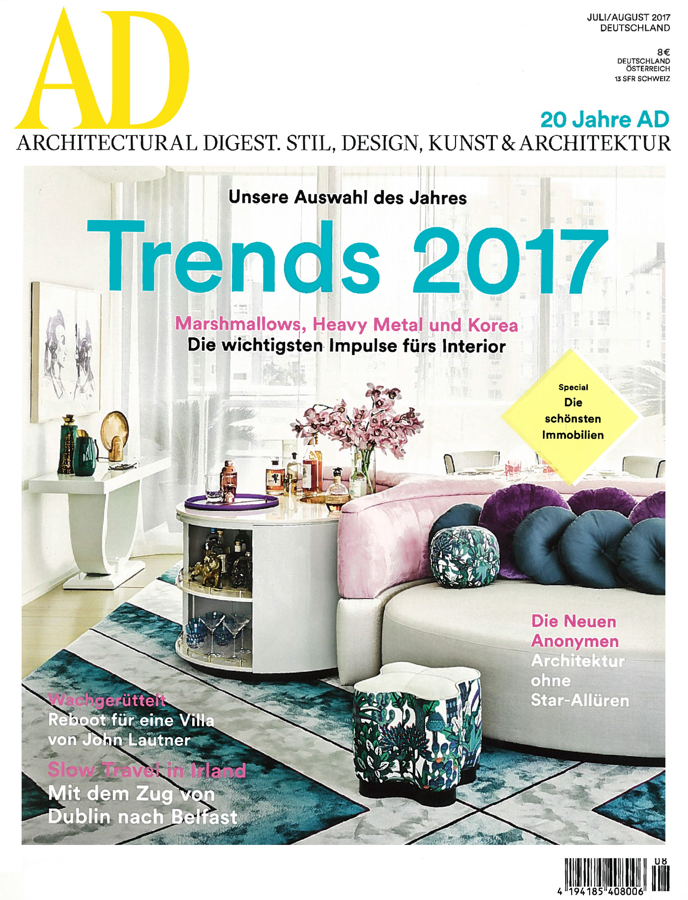 interview in architectural digest germany i july august 2017 studio malka architecture. Black Bedroom Furniture Sets. Home Design Ideas